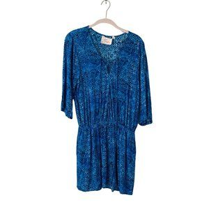Green Dragon Bathing Suit Cover Up Women's Size Medium Blue